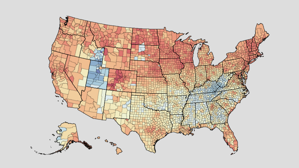 Interactive map shows obesity, alcohol rates in every county ... on obesity death, obesity in canada, obesity statistics in america, obesity rates in america 2013, obesity states, obesity in us 2012, diabetes trends map, food trends map, flu trends map,