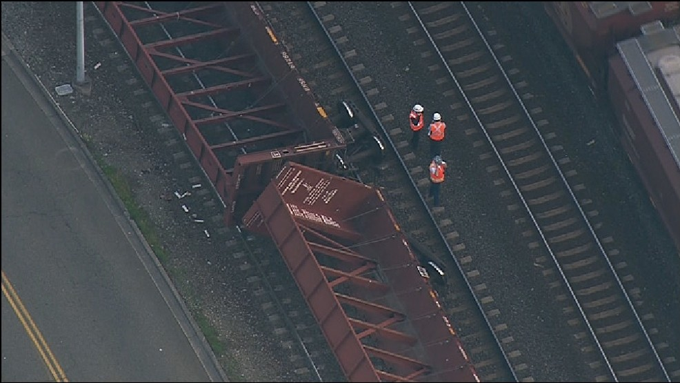 Nobody injured, nothing spilled in Tacoma train derailment
