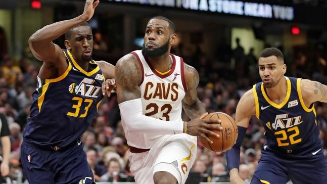 ccb806f144f7 5. VIEW ALL PHOTOS. Cleveland Cavaliers forward LeBron James  shoes are  emblazoned with