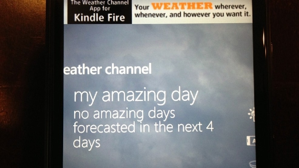 New Weather Channel app a bit of a blow to optimism? | KOMO