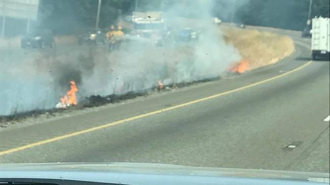 Sparks from motor home's exhaust possible cause of SR 512