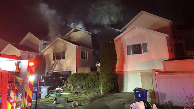 Firefighters respond to the blaze at a Renton home. (Photo: Renton Regional Fire Authority)