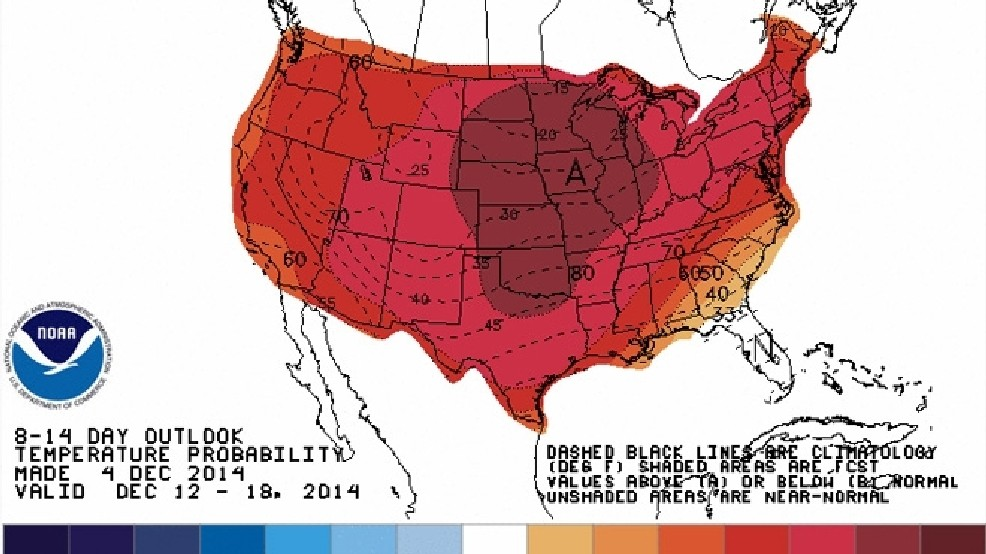 Mid Month National Forecast Map Has Snow Lovers Seeing Red Komo - Us-snow-forecast-map