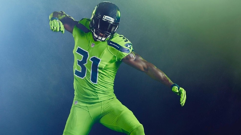b9cb0ccccc1 Check out the 'Action Green' uniforms the Seahawks will wear | KOMO