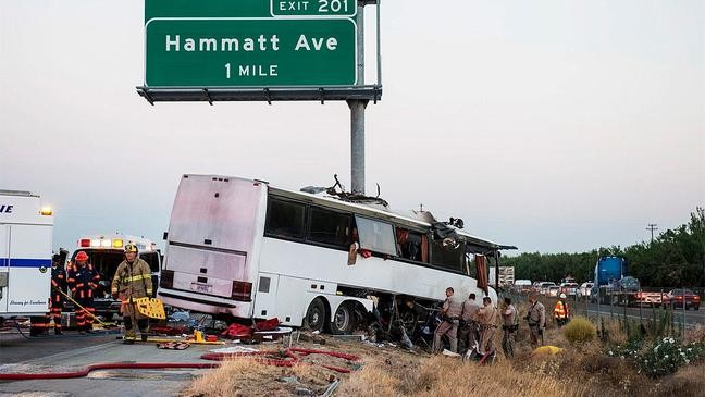 Driver charged in Pasco-bound bus crash that killed 4   KOMO