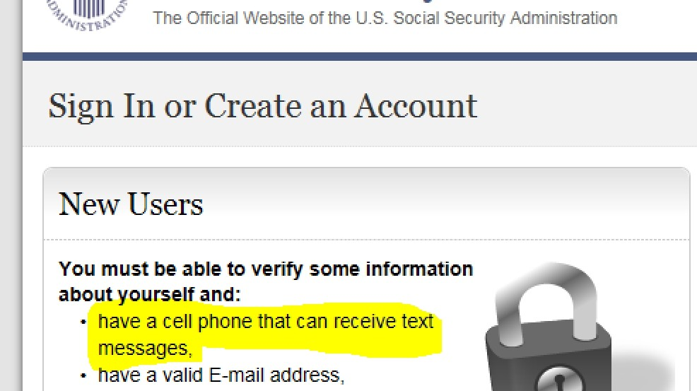 New Social Security Administration Policy Requires Texting To View