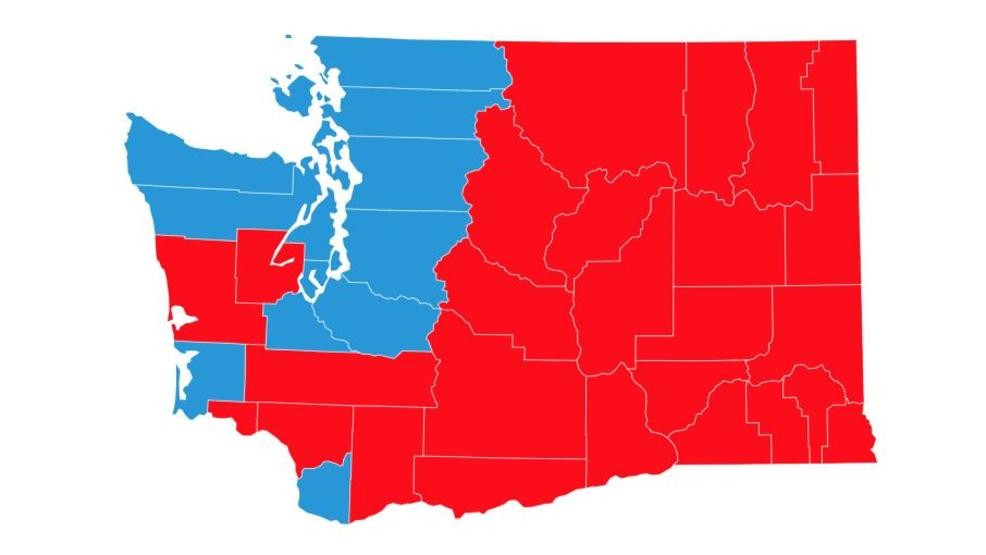 Washington State Election Results Interactive Map Komo - Us-election-map-interactive