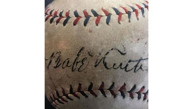 Ruth Gave The Phil Grossman One Of His Baseball Gloves And An Autographed Ball Signed By Himself Walter Johnson
