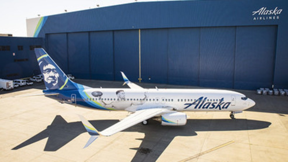 lowest price 36701 229f7 Alaska Airlines shows Seahawks pride with new Russell Wilson ...