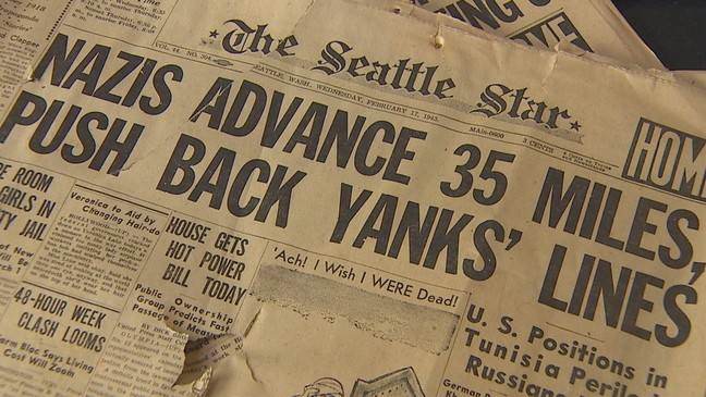 Dozens of old WWII newspapers found hidden in wall of Seattle home ...