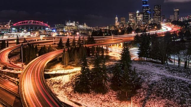 Seattle Christmas.Snow Over Christmas Holiday Managed Feat Never Before Done