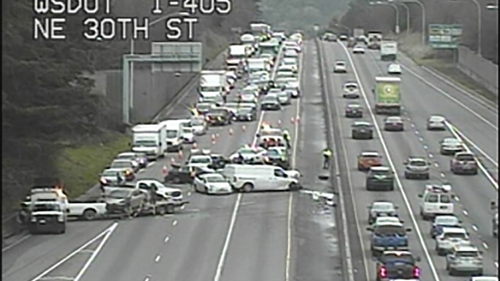 Northbound I-405 reopens after multi-vehicle crash in Renton