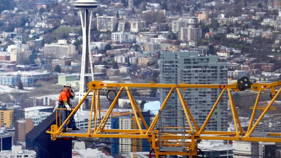 For 3rd year, Seattle has more cranes in the sky than any U S  city
