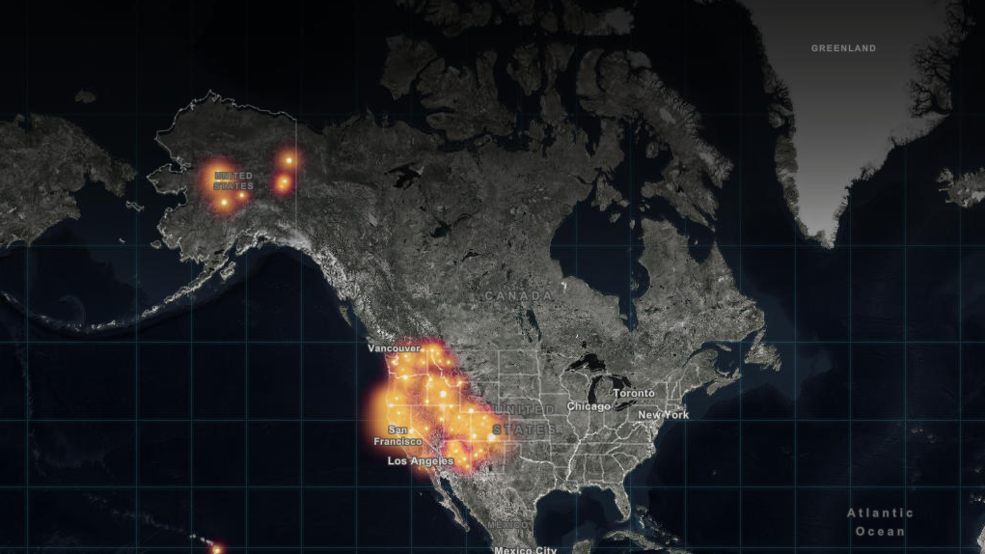 Real Time Interactive Map Of Every Fire In America Komo