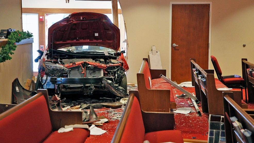 6 hurt when car crashes into church, shatters stained glass | KOMO