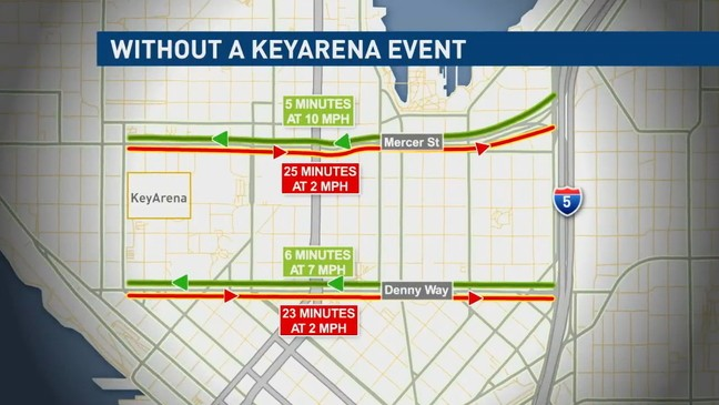 Study claims commute from I-5 to KeyArena during rush hour will take on ice arena map, time warner cable arena map, safeco field map, matthew knight arena seating map, rogers arena map, spokane arena map, hsbc arena map, united center map, oracle arena map, us bank arena map, sleep train arena map, agganis arena map, amsterdam arena map, american airlines arena map, key on a map, allstate arena map, uno lakefront arena map, seattle map, van andel arena seating map, matthew knight arena detailed map,