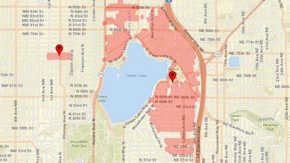 Power restored after outage in Green Lake neighborhood | KOMO on seattle city light service area, seattle city light coverage map, seattle city light rebates,